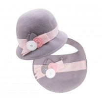 Grey Wool Hat & Bag Set
