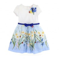 Jersey and Muslin Floral Dress