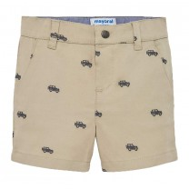 Beige All-over Printed Shorts
