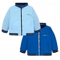 Blue Reversible Bomber Jacket