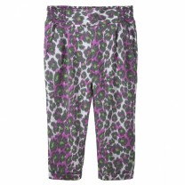 Purple Green Leopard Print Pants