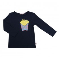Navy Sequin Fries Top