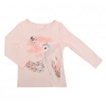 Pink Owl Print Top
