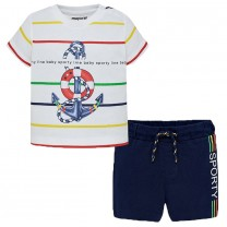 Multicolored Anchor T-shirt Set