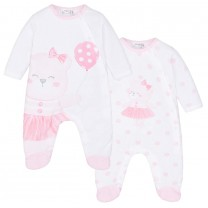 Ivory White Babygrows Set (2 Pack)