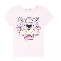 Girls Tiger Cotton T-Shirt