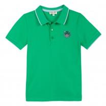 Boys Green Tiger Polo Top