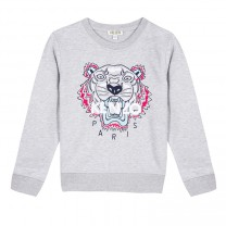Girls Grey Tiger Sweatshirt (14-16 years)