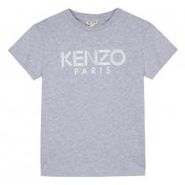 Grey Short Sleeved Logo T-Shirt