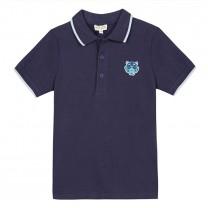 Navy Blue Tiger Polo Shirt