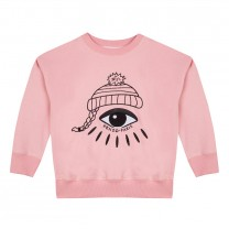 Pink The Eye Graphic Sweatshirt