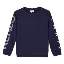 Navy Blue Printed Logo Sweatshirt (14-16 years)