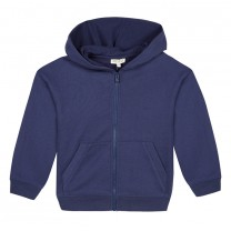Navy Blue Logo Hooded Jacket