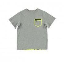 Grey Zip Pocket T-Shirt