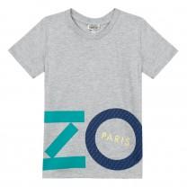 Grey Cotton Logo T-Shirt (2-12 years)