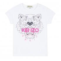 White Cotton Tiger T-Shirt (2-12 years)