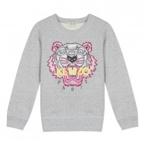Grey Cotton Tiger Sweatshirt (2-12 years)