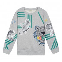 Grey Cotton Tiger Sweatshirt