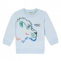 Light Blue Embroidered Faces Sweatshirt (2-3 years)