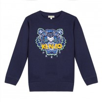 Navy Blue Tiger Sweatshirt ( 2- 12 years)