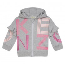 Grey Cotton Hooded Top