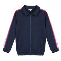 Navy Blue Logo Tape Jacket