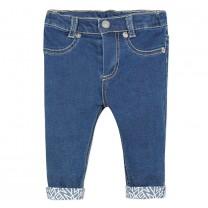 Baby Girls Cotton Logo Jeans