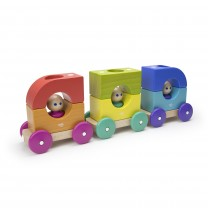 Tegu Tram Magnetic Wooden Blocks