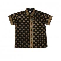 Black Bintang Tabur Printed Shirt