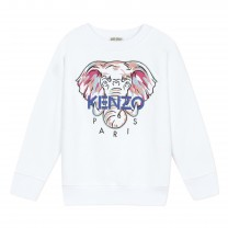 White Jamela Elephant  Sweatshirt (14 years)