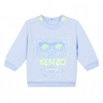 Baby Blue Tiger Baby Sweatshirt