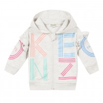Light Grey Logo Baby Jacket