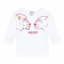White Koleen Long Sleeve T-Shirt