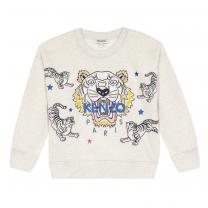 Ivory Tiger Star Sweatshirt
