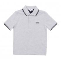 Grey Jersey Polo Shirt