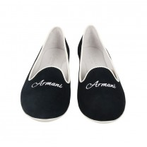 White Logo Flat Shoes