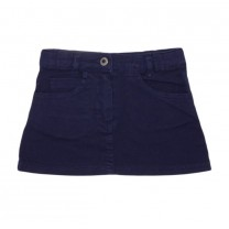 Navy Cotton Skirt