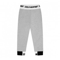 Grey Cotton Logo Track Pants