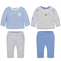 Baby Blue and Light Grey Baby Set