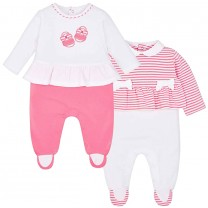 White and Pink Baby Set
