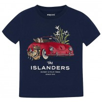 Navy Blue Car Printed T-Shirt