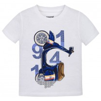 White Vespa Print T-Shirt
