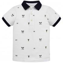 White Badminton Polo Shirt