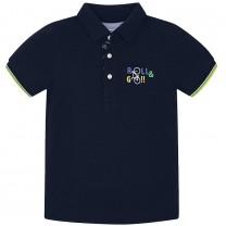 Black Print Polo Shirt