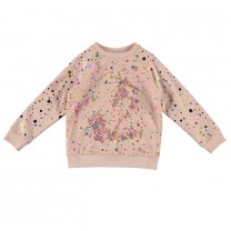 Soft Pink Paint Splash Sweater