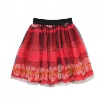 Pink Spray Print Tutu Skirt