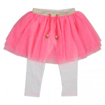 Baby Girls Pink Tulle Skirt with Leggings