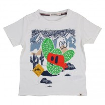 White Cactus Graphic T-Shirt
