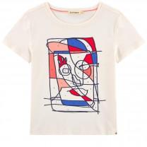 Ivory Printed Cotton T-Shirt