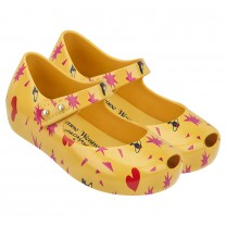 Vivienne Westwood Yellow Pattern Jelly Shoes